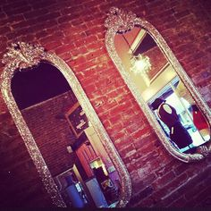 Glitter mirrors from Cheetah is the New Black.  Love it, maaaaaaybe too Girly for Husband.