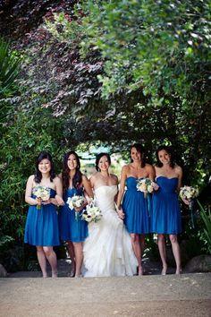 bright-blue-bridesmaid-dresses