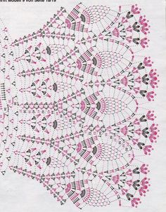 Crochet Skirt Irish lace, crochet, crochet patterns, clothing and decorations for the house, crocheted. Crochet Collar Pattern, Crochet Doily Diagram, Crochet Chart, Crochet Stitches Patterns, Crochet Motif, Irish Crochet, Crochet Lace, Knitting Patterns, Pattern Dress