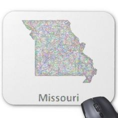 Missouri Map Mouse Pad 12 10 Missouri Map Missouri Missouri State