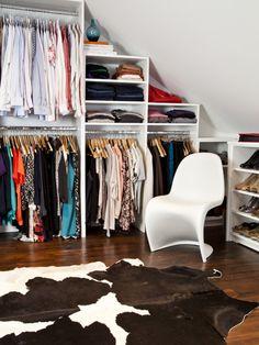Slanted Ceiling Closet Design Ideas, Remodels & Photos