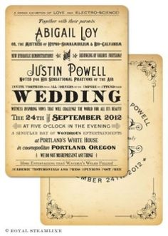 vintage style wedding invitations by Annelisse