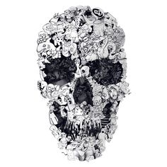 What's not to love about this Doodle Skull adhesive wall decal, it reminds us of something we would have doodled in middle school notebooks during science class. Ali Gulec is an artist from Istanbul,