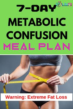 Easy Metabolic Confusion Meal Plan for Extreme Fat Loss Metabolic confusion is a proven way to lose weight fast. Check out this easy metabolic confusion meal plan to jumpstart your fat loss. Weight Loss Meals, Weight Loss Challenge, Losing Weight Tips, Diet Plans To Lose Weight, Best Weight Loss, Healthy Weight Loss, Weight Loss Tips, How To Lose Weight Fast, Reduce Weight