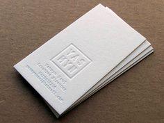 100 Letterpress Business Cards - 1 Foil Colour + Blind Impression