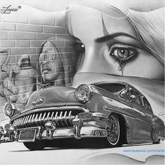 #lowrider #drawing #CharlesLaveso #desenho #HiperRealismo #desenhos #realismo #pretoecinza #brasil #brazil #portugues #portuguese