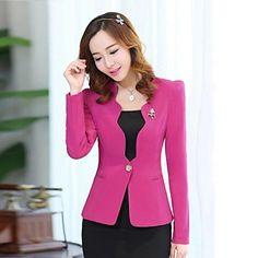 coreano um botão de curto blazer das mulheres (mais cores) - USD $ 24.59