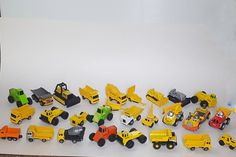 TONKA Toy Trucks 1:64 scale Diecast Construction Equipment Lot of 27 Vehicles by VtgTreasureTroves on Etsy