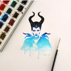 """""""Maleficent By @arjoe.art  _ Also check out our 2nd art featuring page @artshelp"""""""