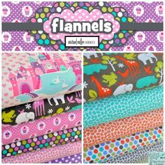 Flannels from Michael Miller,