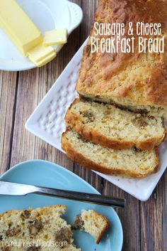 Savory Sausage Cheese Breakfast Bread—a great breakfast recipe for overnight guests!