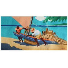Trademark Fine Art Summer Times Canvas Art by Antonio, Size: 16 x 32, Multicolor