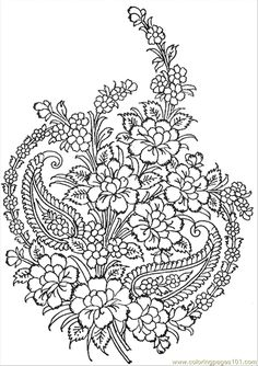 Detailed Coloring Pages for Adults | free printable coloring page Textile Pattern (Other > Pattern)