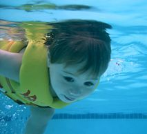 When it comes to teaching swimming lessons, there are some basic guidelines that every experienced swim instructor follows.  For preschoolers, use more of an activity-oriented approach. Children 5 and under (especially 3's & 4's) NEED a different approach than what is traditionally done for older children. The key with preschoolers is to keep the lesson engaging and redirect their attention by making learning like play.