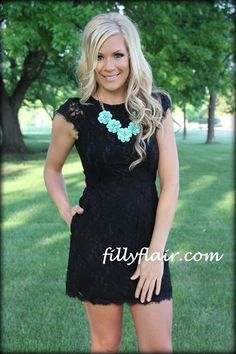 Bridal Bliss Lace dress in BLACK - Filly Flair