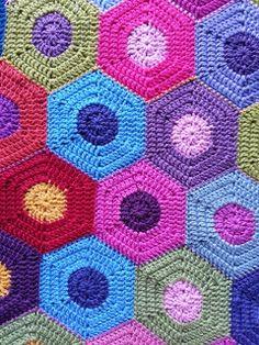 crochet blanket 195 hexagons for a single bed.