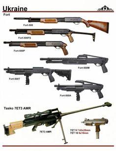 Украина: Fort-500 Shotguns, TASKO 7ET3 AMR, ...