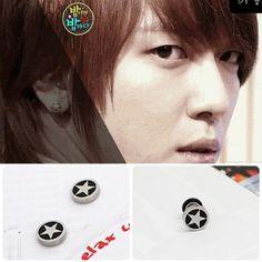 [CNBLUE Style] Simple Star Piercing & Earring & Magnet Earring(Yong-hwa) $6 on kstargoods.com