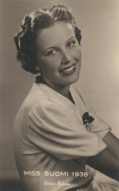 Miss Finland and Miss Europe 1938, Sirkka Salonen