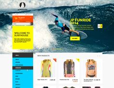 Surfhouse – Free Psd eCommerce Template