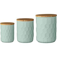 3 Piece Ceramic Jar with Bamboo Lid Set Reviews (75 CAD) ❤ liked on Polyvore featuring home, kitchen & dining, serveware, ceramic jar and ceramic serveware