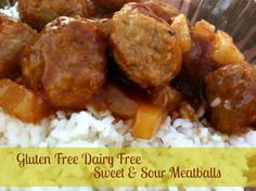 Gluten Free Dairy Free Sweet and Sour Meatballs - dinner #glutenfree #dairyfree #freezer