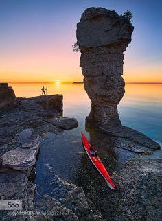 Sunrise at Flowerpot Island by Henry_Liu #landscape #travel