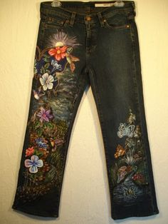 hand painted jeans, a little pricey but I like