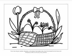 Canasta de pascua de resurrección para colorear #imprimir #colorear #imprimible #DibujosParaColorear #Easter #Pascua