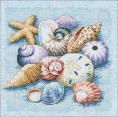 Cross Stitch Craze: Beach Cross Stitch Sea Shells by Alyssa James IaFwi