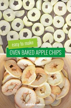 Easy to make, oven baked, apple chips. Make apple chips in your oven! No need for a fancy dehydrator! Easy Healthy Dinners, Easy Dinner Recipes, Healthy Snacks, Healthy Kids, Dried Apples, Healthy Groceries, Dehydrated Food, Pinterest Recipes, Oven Baked