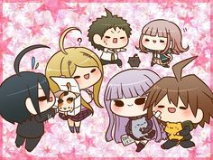 The Hope Within Despair - > Chapter 6 < Chibi Anime, Chica Anime Manga, Kawaii Anime, Danganronpa Memes, Danganronpa Characters, Makoto Naegi, Pink Blood, Otaku, Crime