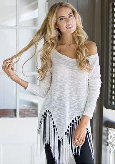 White Tassel Shirt - Top