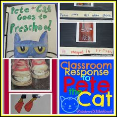 Extension Ideas for 'Pete the Cat' picture books in PreK + K