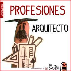 El arquitecto / La arquitecta --- Profesiones en español, vocabulario español incial- intermedio