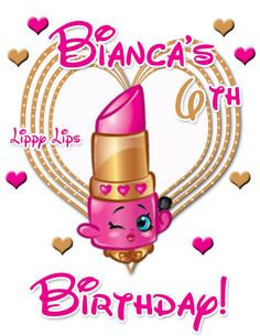 shopkins lippy lips birthday iron on designs $3.99 available at www.partyexpressinvitations.com