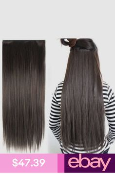 Full Head Multi Colors One Piece Clip In Remy Human Hair Extensions Pieces
