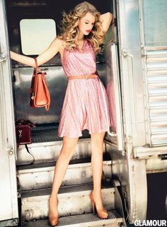 Taylor Swift in ERIN by Erin Fetherston in November issue of Glamour
