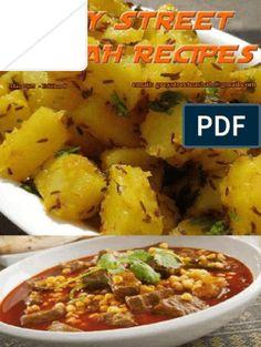 Grey Street Casbah Recipes 1 - May 2015 Diwali Food, Text File, Indian Food Recipes, Ethnic Recipes, Custard, Free Food, Potato Salad, Curry