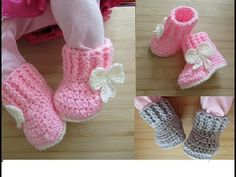 Crochet Baby Design DESIGNED by Happy Crochet Club. Crochet for baby girl or baby boy booties. All other baby crochet patt. Crochet Baby Booties Tutorial, Crochet Baby Blanket Beginner, Baby Boy Crochet Blanket, Crochet Baby Beanie, Crochet Baby Boots, Baby Boy Booties, Baby Girl Boots, Baby Shoes Pattern, Baby Patterns