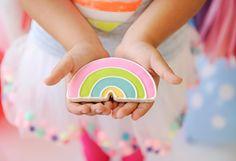 Over the Rainbow Kids Birthday Party Rainbow Sugar Cookies