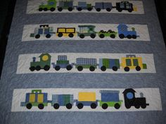 I've Been Working On The Railroad Custom Offering- Crib Size, Toddler Bed, Twin Bed or Full Size Quilt on Etsy, $75.00