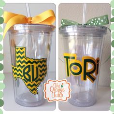 Personalized #Baylor tumbler. Would make such a cute gift!