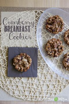 Cranberry Breakfast Cookies // TriedandTastys-01