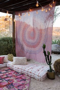 The cutest outside hang out spots.