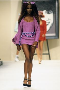 Chanel Spring 1994 Ready-to-Wear Fashion Show - Naomi Campbell (Marilyn)