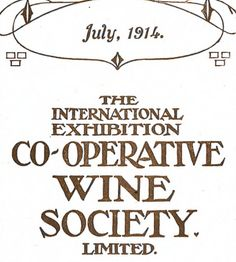What did a wine list look like in 1914?