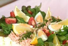 Pullahiiren leivontanurkka: Laktoositon Savulohivoileipäkakku Fitness Diet, Cobb Salad, Diet Recipes, Food, Drinks, Drinking, Beverages, Essen, Drink