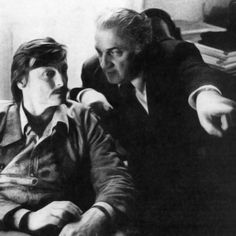 Andrei Tarkovsky with Federico Fellini