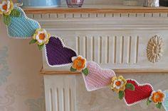 Lovely Heart & Flower bunting from Cupcakejojo